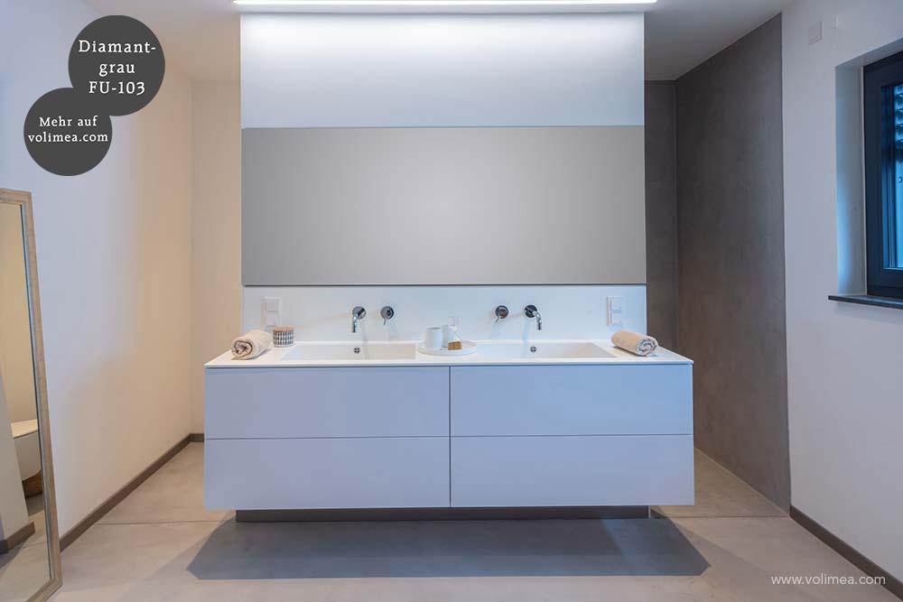 Mikrozement fugenlose Futado Wand und Bodenbeschichtung in der Dusche - Diamantgrau FU-103
