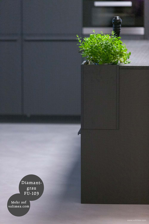 Mikrozement fugenlose Futado Wand und Bodenbeschichtung im Küchenbereich - Diamantgrau FU-103