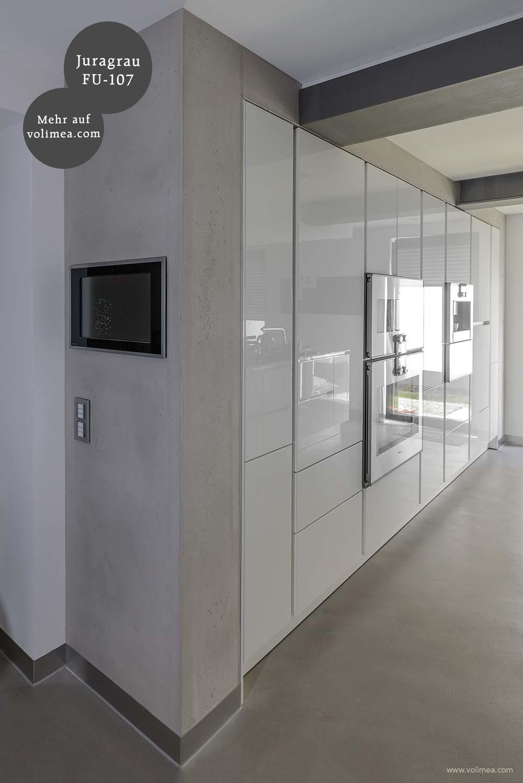 Futado Wand und Bodenbeschichtung im Küchenbereich Juragrau FU-106