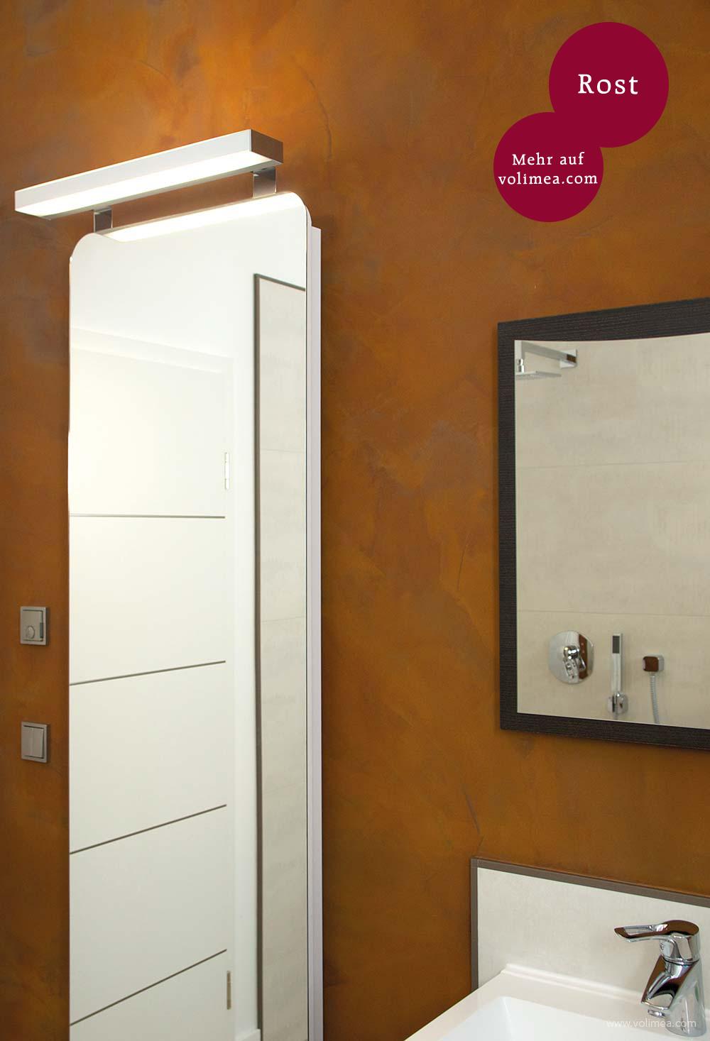 Grandezza Wandbeschichtung Waschtisch Rost