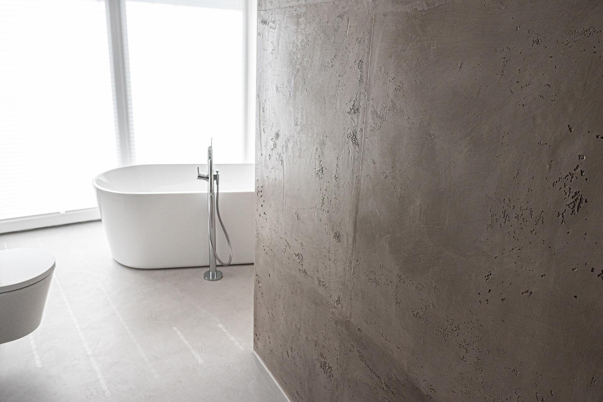 Betonoptik wand   wohnen betonoptik   badezimmer betonoptik   Volimea